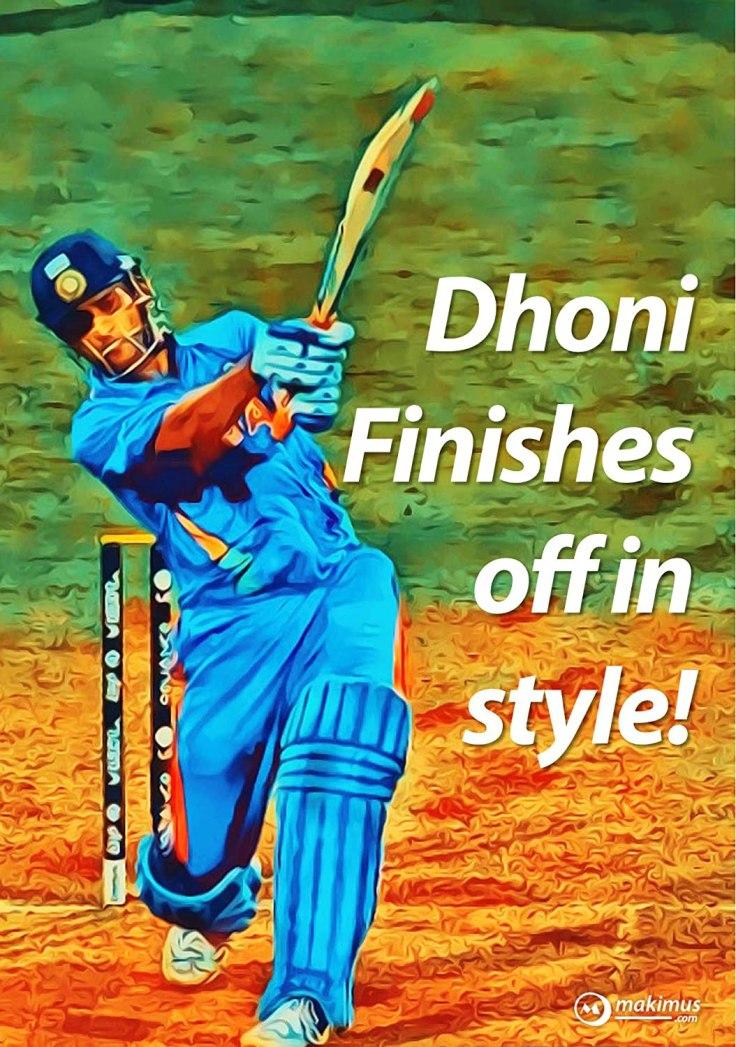 dhonis match winning 6