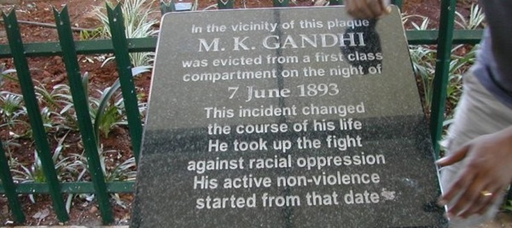 gandhiji thrown out of train